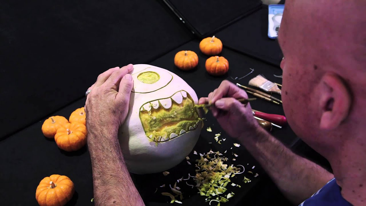 Mike Wazowski Pumpkin Carving Disney Pixar S Monsters University Youtube