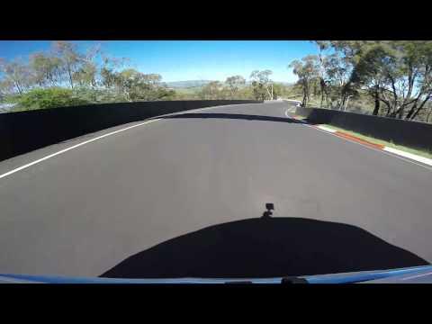 Lap around Mount Panorama Circuit in Bathurst, NSW