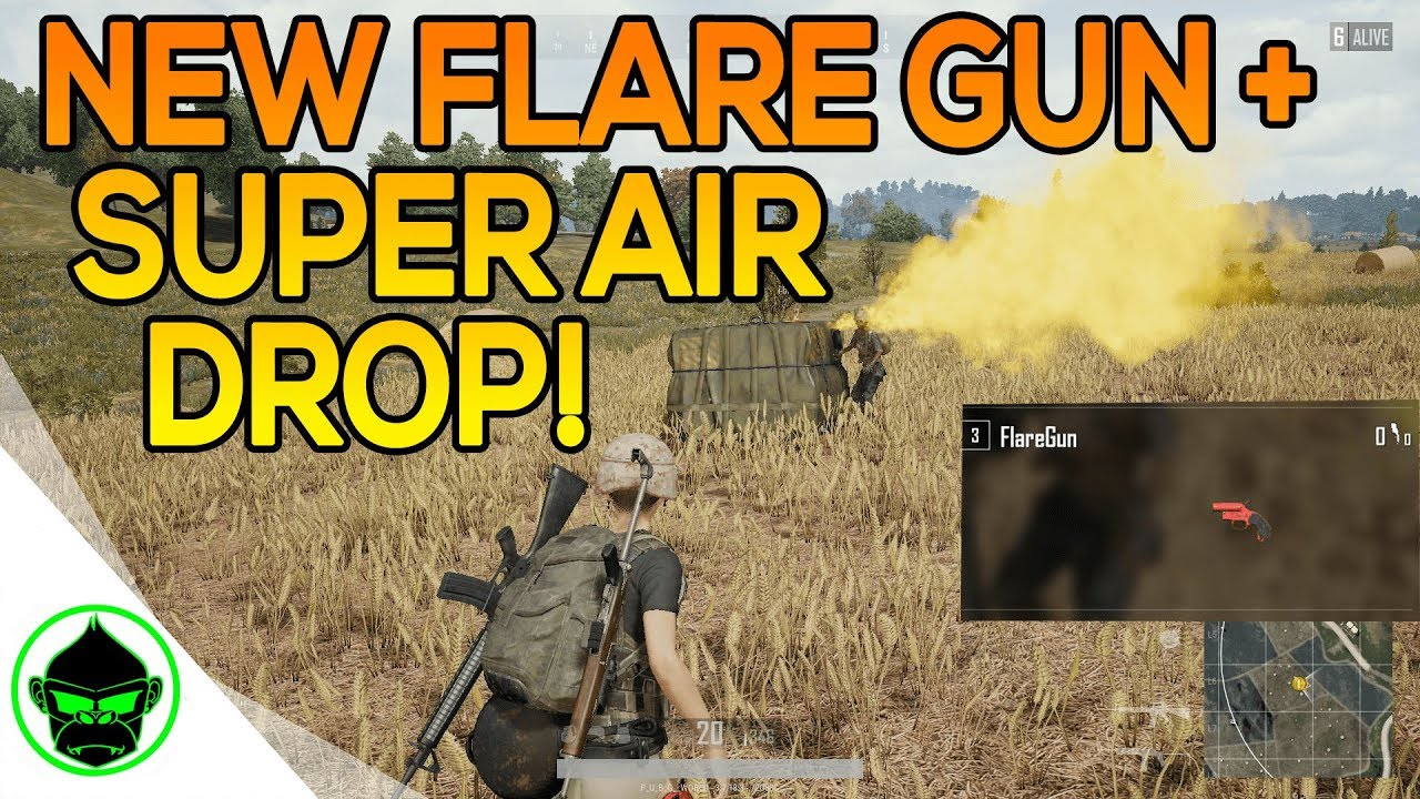 Pubg Air Drop Live Wallpaper: NEW FLARE GUN / SUPER AIR DROP FOUND IN PUBG CUSTOM GAMES