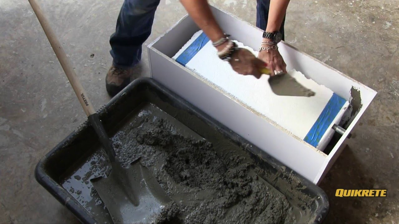 Ideas concretas c mo hacer una hielera jardinera en for Como construir una pileta de hormigon