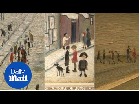 Lowry's renowned for his matchstick depiction of the north - Daily Mail