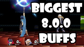 Biggest Buffs in Patch 8.0.0!! (SMASH ULTIMATE)