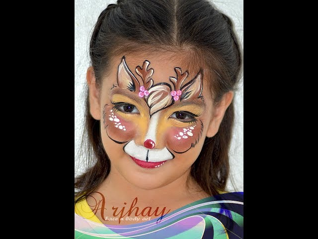 Pretty Reindeer Face Painting