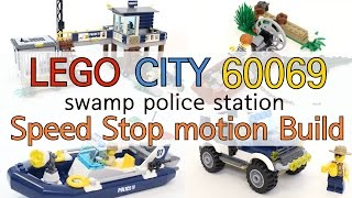 Lego City 60069 Speed Build Stop Motion Review - 60069 : Swamp Police Station