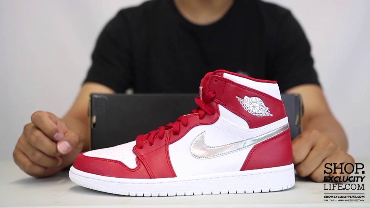 f7f139bb3b ... denmark air jordan 1 high retro gym red metallic silver unboxing video  at exclucity youtube c0a09