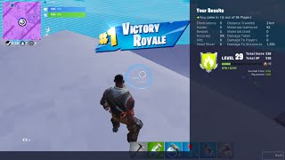Fortnite Player's 302nd Zero Kill Battle Royale Victory Without Using Weapons or Materials - J347