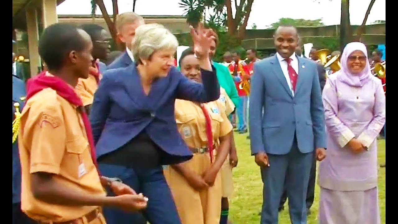 Image result for theresa may silly dance