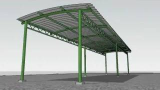 "Sketchup Animation - ""erection Of A Shed"""