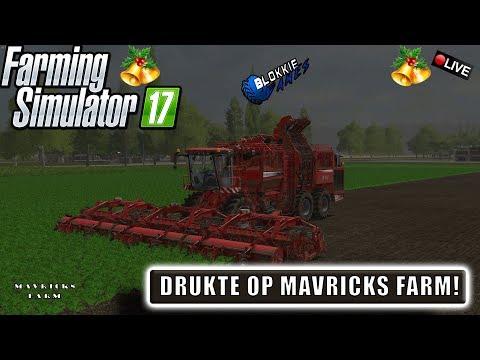 """{NL} """"DRUKTE  OP MAVRICKS FARM!"""" FarmingSimulator 17 Mavricks Farm {G29} #KERST"""