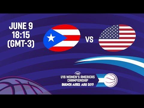 Puerto Rico vs United States - Group B - FIBA U16 Women's Americas Championship