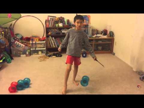 Chinese YoYo intermediate trick #4 Leg Combo 1