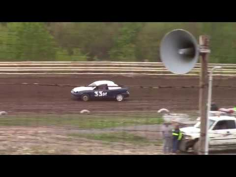 Hummingbird Speedway (5-11-19): Lockwood Processing Four-Cylinder Heat Race #1