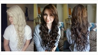 how i dyed my hair from blonde to brown some random products