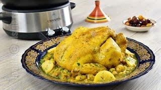 Pui marocan cu masline la Crock-Pot | JamilaCuisine