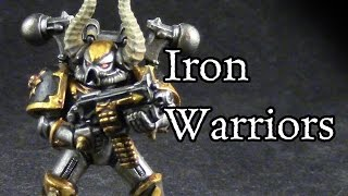 How to paint Iron Warriors Chaos Space Marines