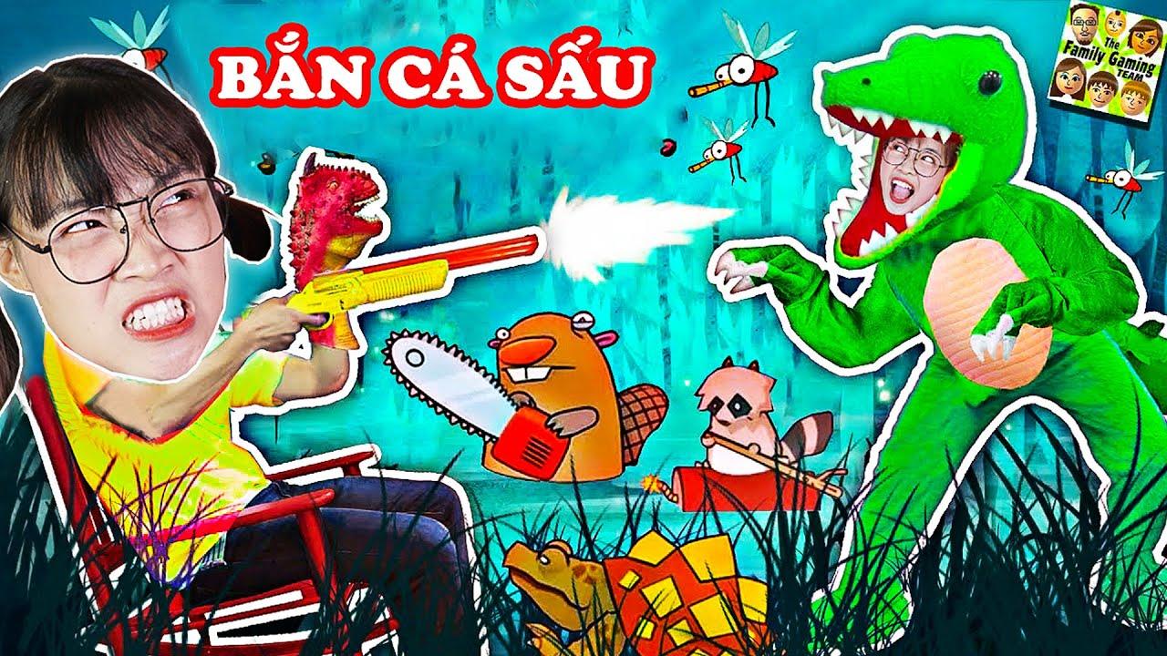 Hà Sam Bắn Hết Cá Sấu Ăn Thịt Hung Dữ Nhà Hàng Xóm - Swamp Attack