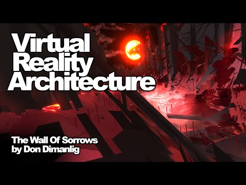 """VR Architecture Drawing: """"Wall of Sorrows"""" by Don Dimanlig"""