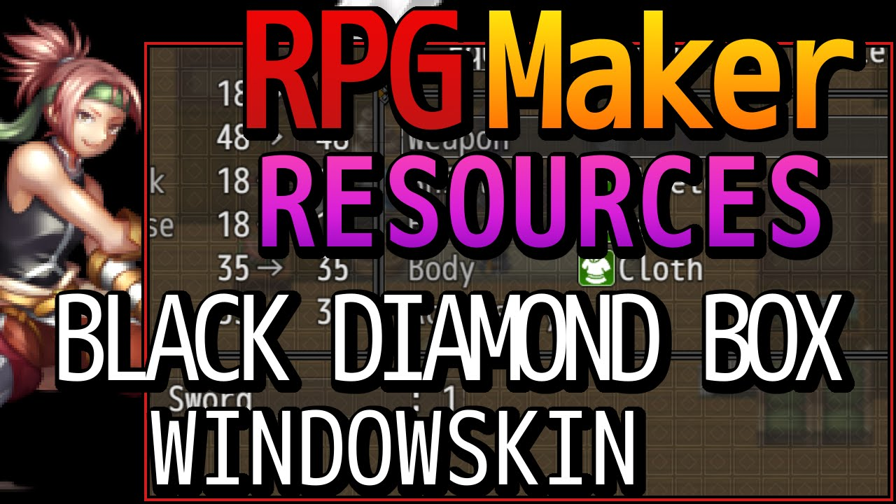 RPG Maker MV Resources - Black Diamond Box Windowskin