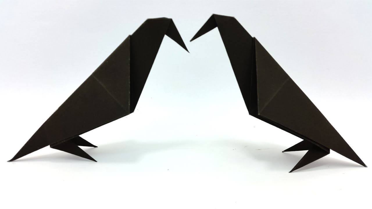 Paper crow easy instructions halloween origami step by step paper crow easy instructions halloween origami step by step best tutorial for beginners jeuxipadfo Gallery