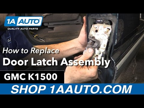 How to Replace Install Door Latch Assembly 96 GMC Sierra K1500 Buy Auto Parts at 1AAuto.com