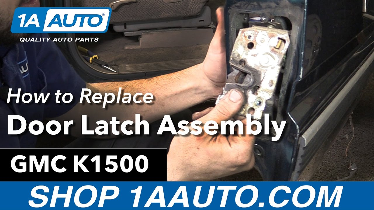 How to replace door latch assembly 89 99 gmc sierra k1500 - Installing a lock on a bedroom door ...