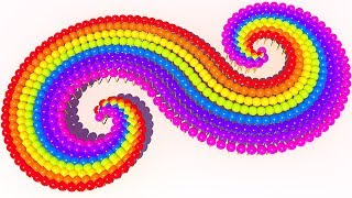 Learn Colors with Double spiral and Lollipops candy for Children