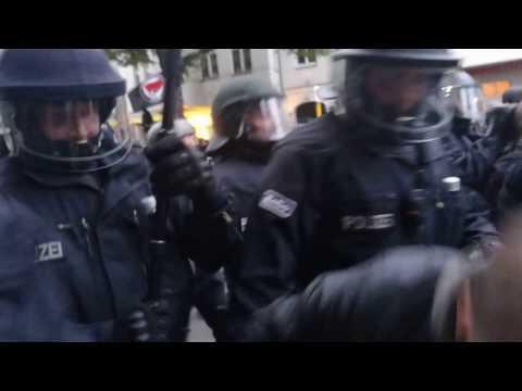 Riots in Berlin - Kreuzberg, May 1st 2017