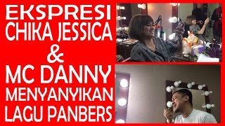 Heboh..! Beginilah ekspresi Chika Jessica & Mc Danny ketika menyanyikan lagu Panbers