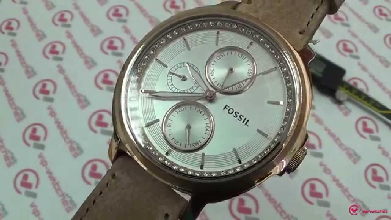 Fossil Es3358 Youtube Es3954 Tailor Multifunction Light Brown Leather Watch