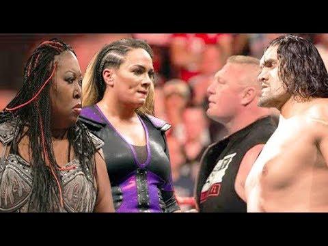 Nia Jax & Kharma vs The Great Khali & Brock Lesnar