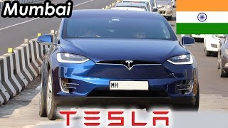 Tesla In India Spotted First Time | OMG | Ferrari | Porsche | AMG | Supercars of Mumbai 2018
