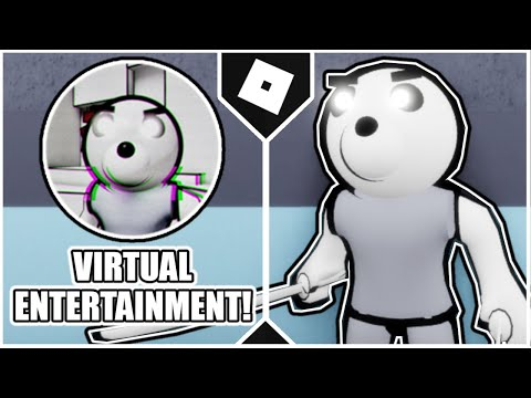"""How to get the """"VIRTUAL ENTERTAINMENT"""" BADGE + MR. CARTOON MORPH in ACCURATE PIGGY ROLEPLAY [ROBLOX]"""