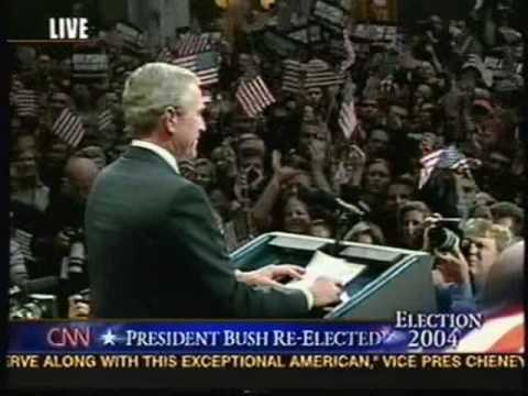 Election Night 2004 - Pres. George Bush's Victory Speech - from CNN - part 13!!