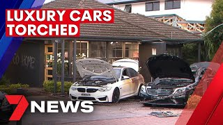 Luxury cars torched in Adelaide | 7NEWS