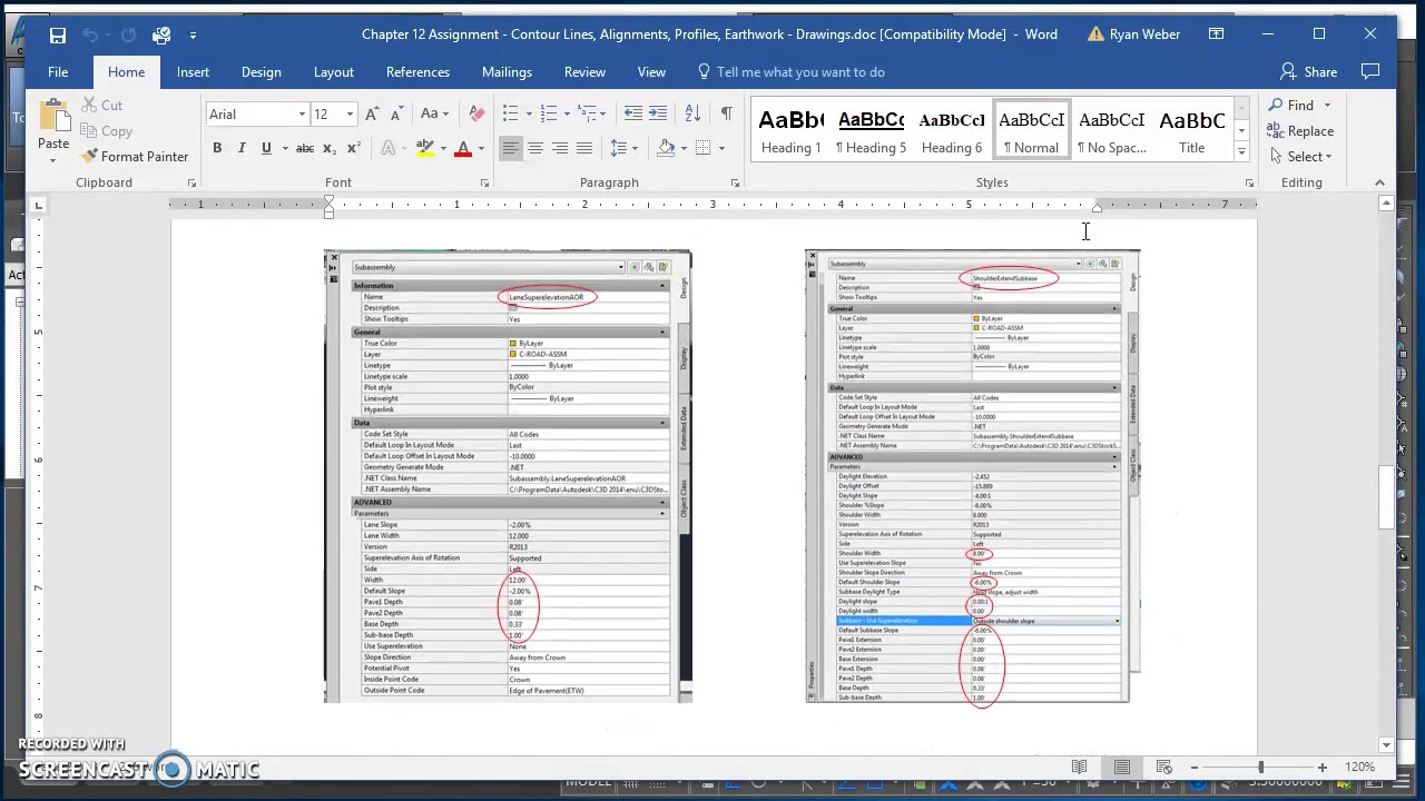 Creating an Assembly in Civil 3D
