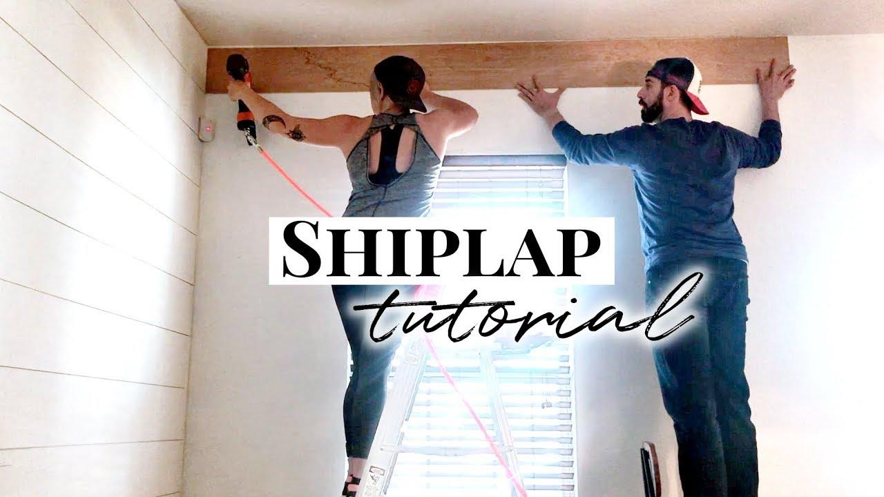 Shiplap walls how to install plywood shiplap youtube - How to install shiplap on interior walls ...