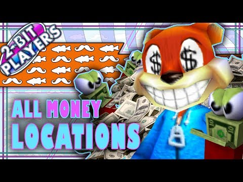 Where To Find ALL THE MONEY In Conker's Bad Fur Day | $2,310 | 2-Bit Players