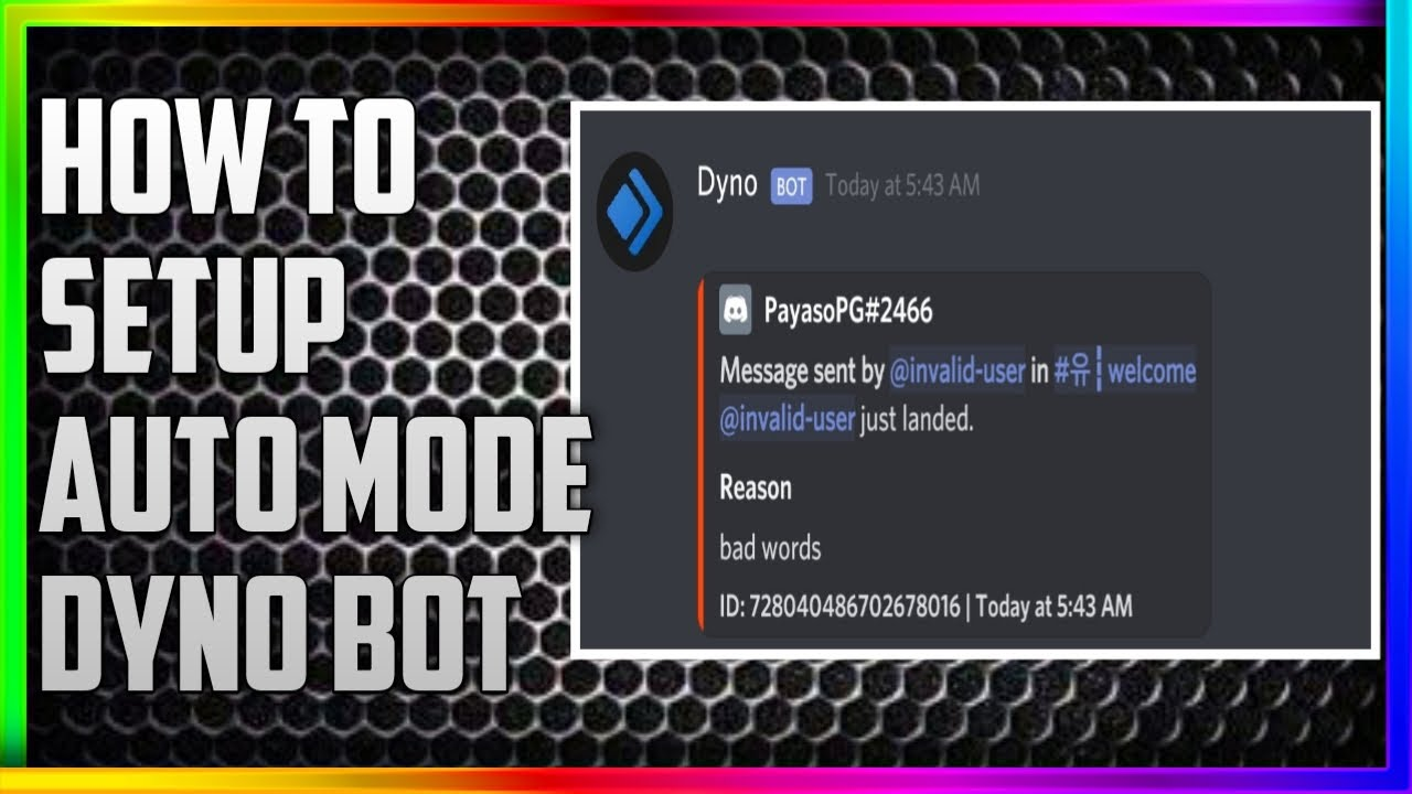 How to use Dyno Bot Automod Feature - Dyno Bot Best Bot for Discord AutoMod