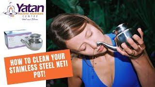 How To Clean An Ayurvedic Neti Pot | YATAN