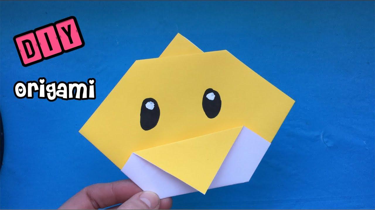 Cose Creative Con La Carta ★ diy: anatra origami facile ★ lavoretti con la carta ★ origami facili ma  belli ★ fai da te