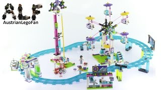 Lego Friends 41130 Amusement Park Roller Coaster - Lego Speed Build Review