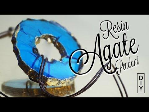 How to make Resin false AGATE pendant