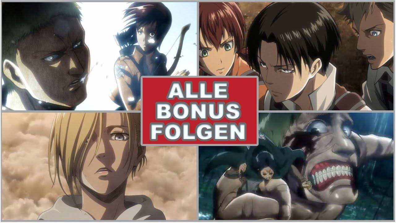 """Download Alle 8 """"BONUS-Folgen/OVA-Folgen"""" zu Attack on Titan aufgelistet & erklärt!"""