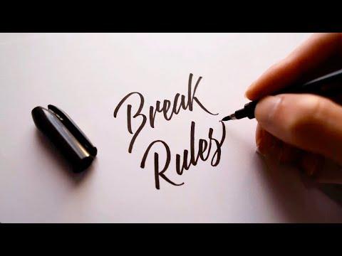 Lettering With Brush Pen 筆ペンでレタリングをしよう