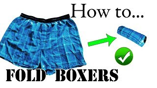 Packing Lifehack: How to Fold / Roll Boxers & Shorts for Travel - Save Space - Vacation, Carry-On