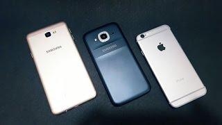 Samsung j7 Prime vs Samsung j2(2016) vs iPhone 6 | Mega Comparison