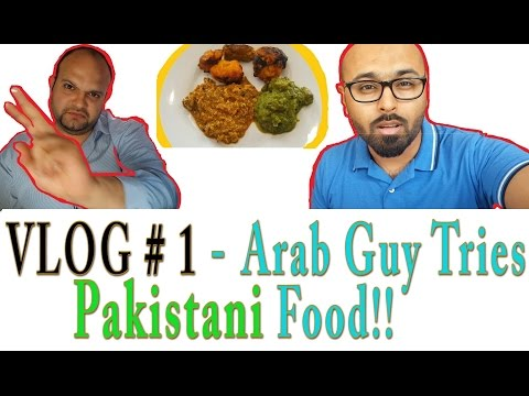 Arab Guy Tries Pakistani Food, His Reaction Was Amazing - Hayat Restaurant, Riyadh - (My first Vlog)