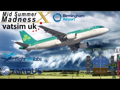 FS Labs A320 CFM from Dublin to Birmingham on Vatsim - First