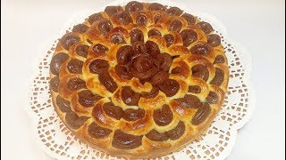 "ПИРОГ ДРОЖЖЕВОЙ ""ХРИЗАНТЕМА"" (yeast cake ""chrysanthemum"")"