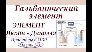 продукты в ОВР. Ч.2-3. Гальванический элемент
